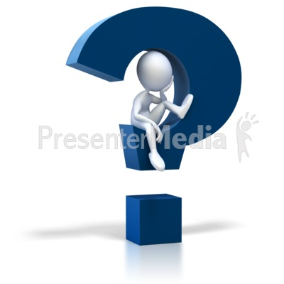 Stick Figure Sitting In Question Mark PowerPoint Clip Art