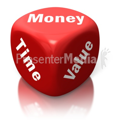Money Time Value Red Dice PowerPoint Clip Art