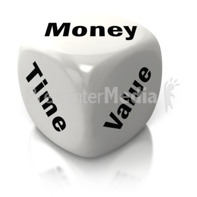 Money Time Value White Dice PowerPoint Clip Art