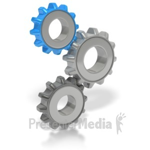 ID# 2649 - Stack of Gears - Presentation Clipart