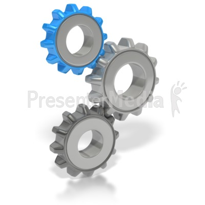 Stack of Gears PowerPoint Clip Art
