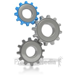 ID# 2652 - Three Gears Stacked - Presentation Clipart