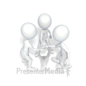ID# 2660 - Go Team Motivational Huddle - Presentation Clipart
