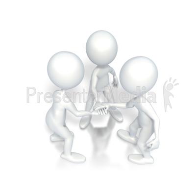 Go Team Motivational Huddle PowerPoint Clip Art