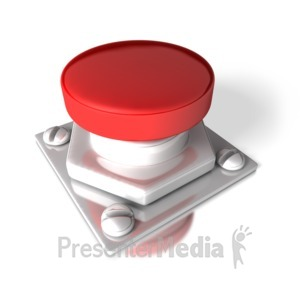 ID# 2666 - Single Red Button - Presentation Clipart