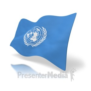 ID# 2670 - Flag United Nations - Presentation Clipart
