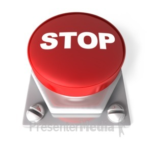 ID# 2672 - Stop Button - Presentation Clipart