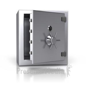 ID# 2673 - Steel Safe Open - Presentation Clipart