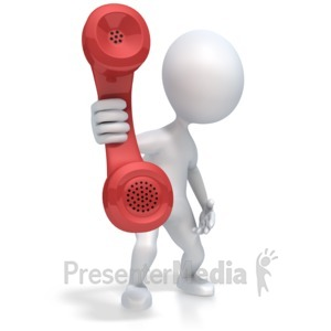 ID# 2692 - Figure Hold Out Phone - Presentation Clipart