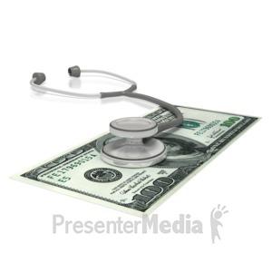 ID# 2693 - Stethoscope  Money - Presentation Clipart