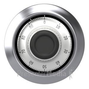 ID# 2694 - Chrome Dial Safe - Presentation Clipart