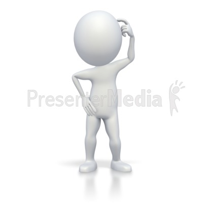 Stick Figure Puzzled - Education and School - Great Clipart for ...