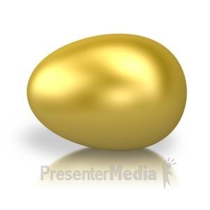 ID# 2728 - Golden Egg - Presentation Clipart