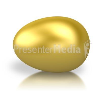 Golden Egg PowerPoint Clip Art