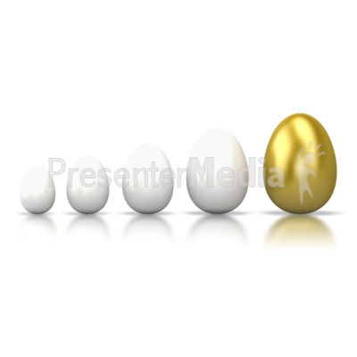 Egg Line Grow PowerPoint Clip Art