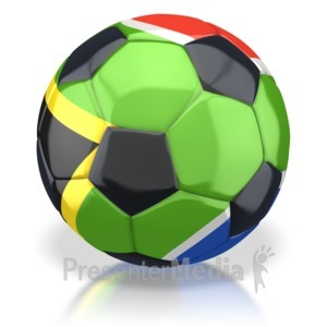 ID# 2741 - South Africa Soccer Ball  - Presentation Clipart