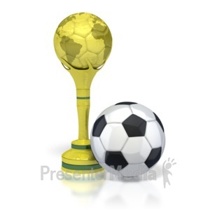 ID# 2745 - Trophy with Soccer Ball  - Presentation Clipart