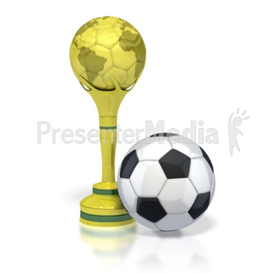Trophy with Soccer Ball  PowerPoint Clip Art