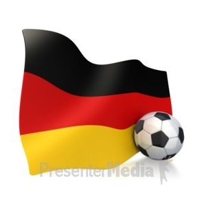 ID# 2755 - German Flag With Soccer Ball - Presentation Clipart