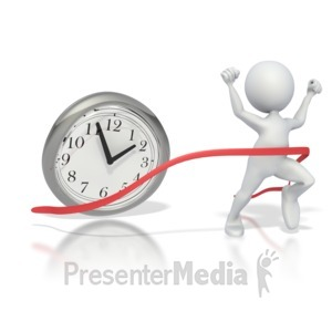 ID# 2770 - Beating The Clock  - Presentation Clipart