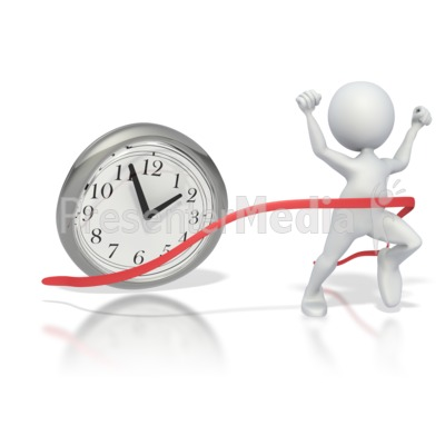 Beating The Clock  PowerPoint Clip Art