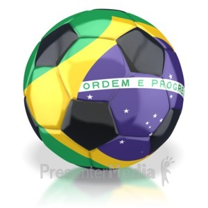 ID# 2771 - Brazil Soccer Ball  - Presentation Clipart