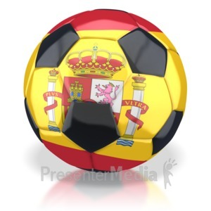 ID# 2772 - Spain Soccer Ball - Presentation Clipart