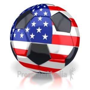 ID# 2773 - American Soccer Ball  - Presentation Clipart