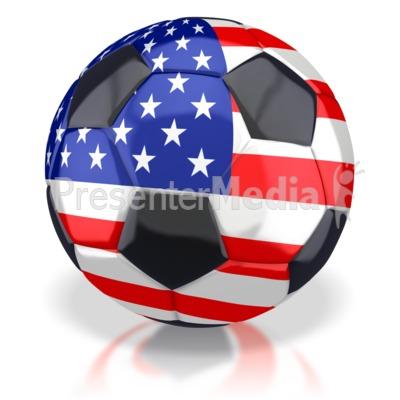 American Soccer Ball  PowerPoint Clip Art