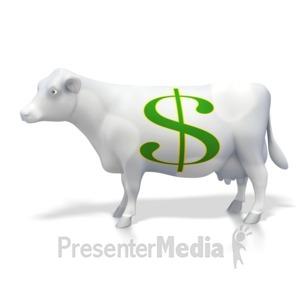 ID# 2775 - Cash Money Cow  - Presentation Clipart