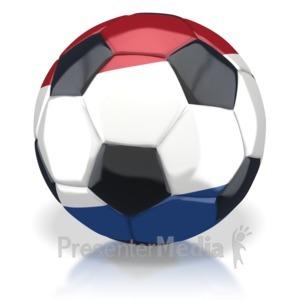 ID# 2777 - Netherlands Soccer Ball - Presentation Clipart
