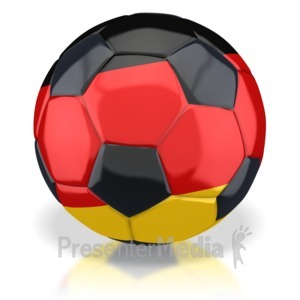 ID# 2778 - Germany Soccer Ball  - Presentation Clipart