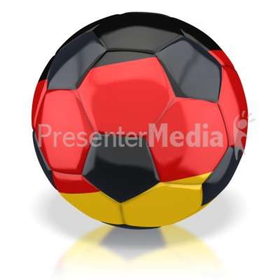 Germany Soccer Ball  PowerPoint Clip Art