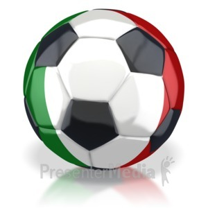 ID# 2779 - Italy Soccer Ball  - Presentation Clipart