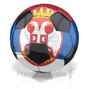ID# 2780 - Serbia Soccer Ball  - Presentation Clipart