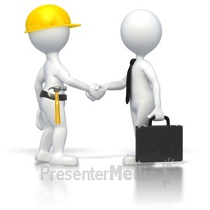 ID# 2792 - Construction Business Deal  - Presentation Clipart