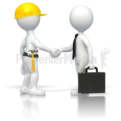 Construction Business Deal  PowerPoint Clip Art