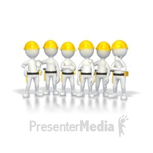 ID# 2793 - Stick Figure Construction Group - Presentation Clipart
