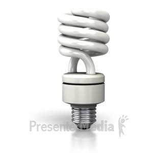 ID# 2798 - Cfl Light Bulb - Presentation Clipart
