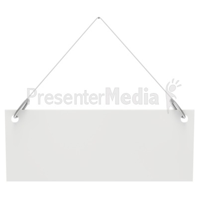 Hanging Blank Sign  PowerPoint Clip Art
