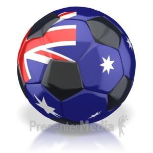 ID# 2801 - Australian Soccer Ball  - Presentation Clipart