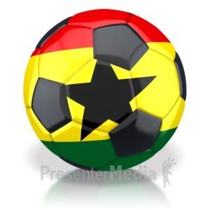ID# 2803 - Ghana Soccer Ball  - Presentation Clipart