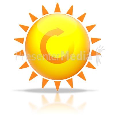 Sun Shine Recycle Arrow PowerPoint Clip Art