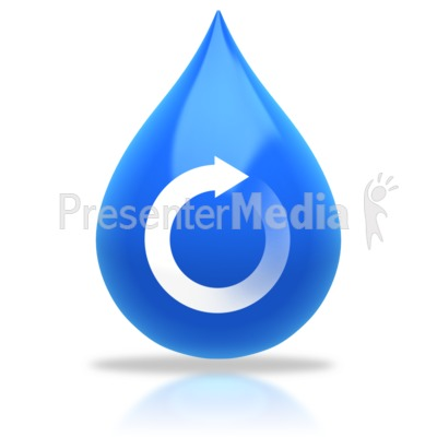 Water Drop Recycle Arrow PowerPoint Clip Art