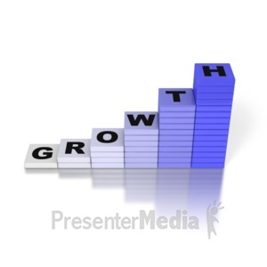 ID# 2814 - Growth Graph - Presentation Clipart