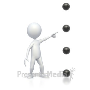 ID# 2830 - Bullet Point Point Medium High - Presentation Clipart