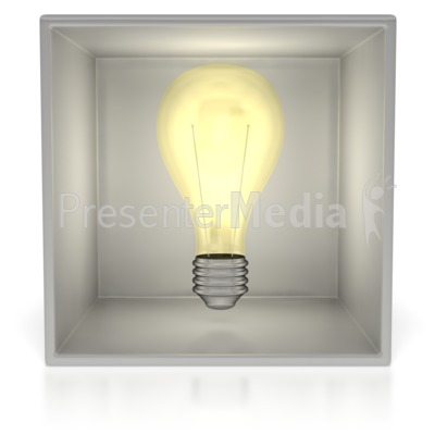 Light Bulb In Box  PowerPoint Clip Art