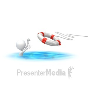 ID# 2842 - Stick Figure Rescue Buoy - Presentation Clipart