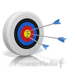 ID# 2843 - Three Bullseyes  - Presentation Clipart
