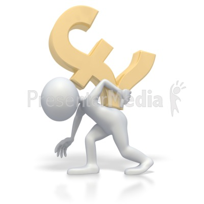 Carrying Pound Symbol PowerPoint Clip Art